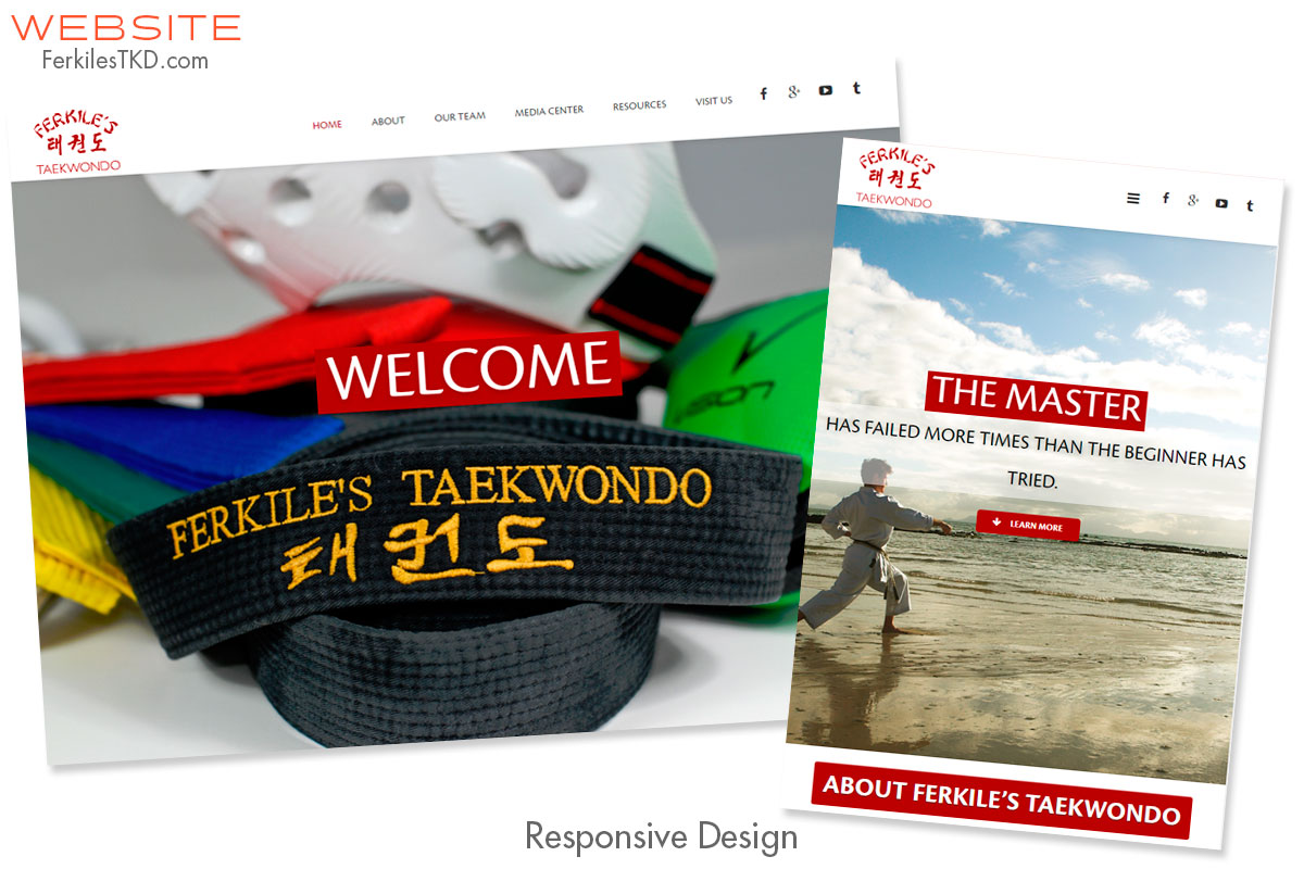 Ferkiles TKD Website Design, Production, Planning and Strategy